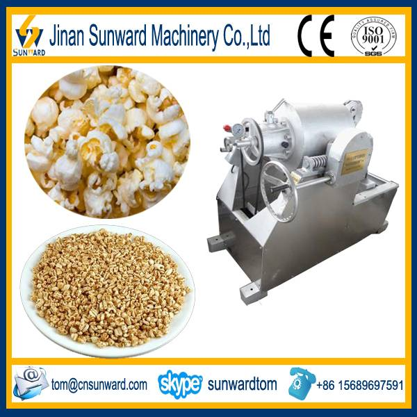 Low cost stainless steel puffed rice machine