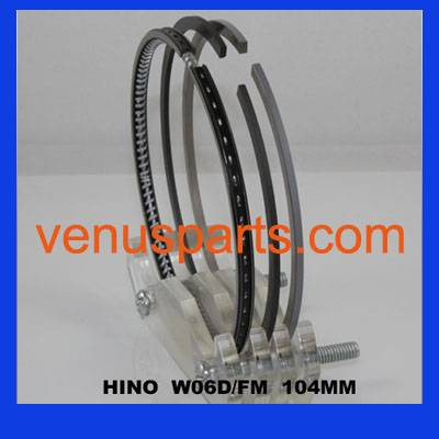 piston ring for hino W04D