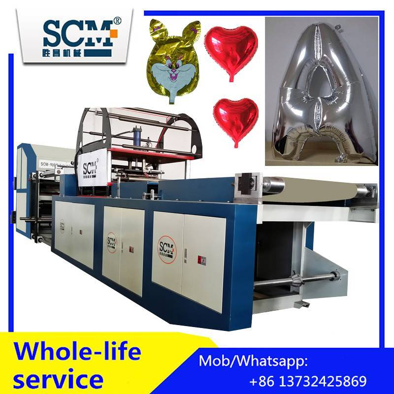 Fully automatic mylar/nylon/metallic foil balloon making machin