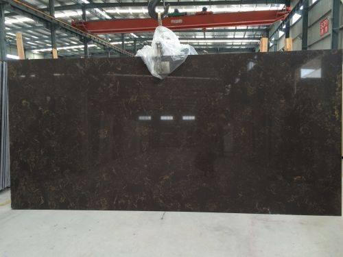 Xiamen Brown quartz stone slab