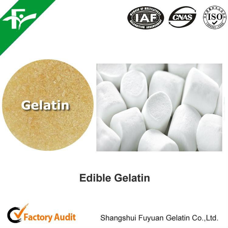organic marshmallows ingredients, food grade gelatin 80-280 bloom
