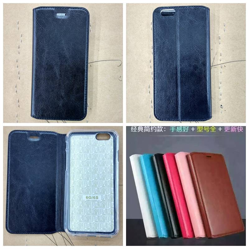 Mobile phone Flip Leather Cover Cases, Cellphone Protective Case for Samsung, Iphone, Alcatel