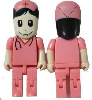 USB people style Flash Drive Femal Nurse, usd3.7/unit