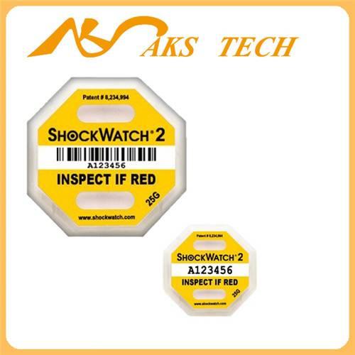 Shockwatch 2 impact color changging sticker