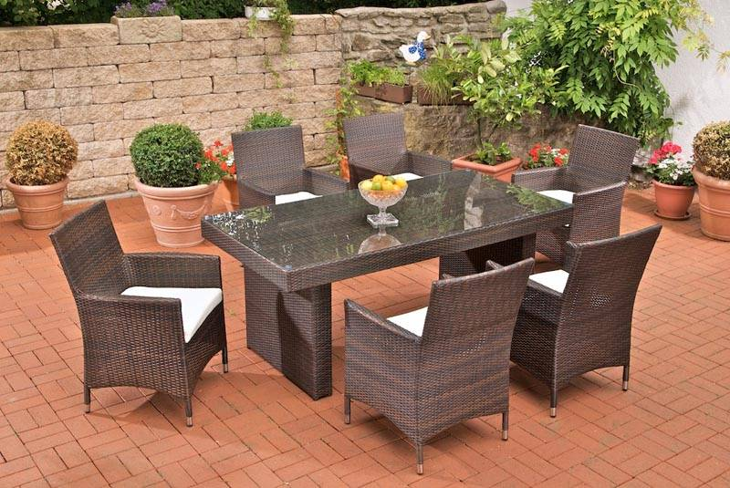 hot sale PE rattan /aluminum /Outdoor leisure furniture Dining table and chair