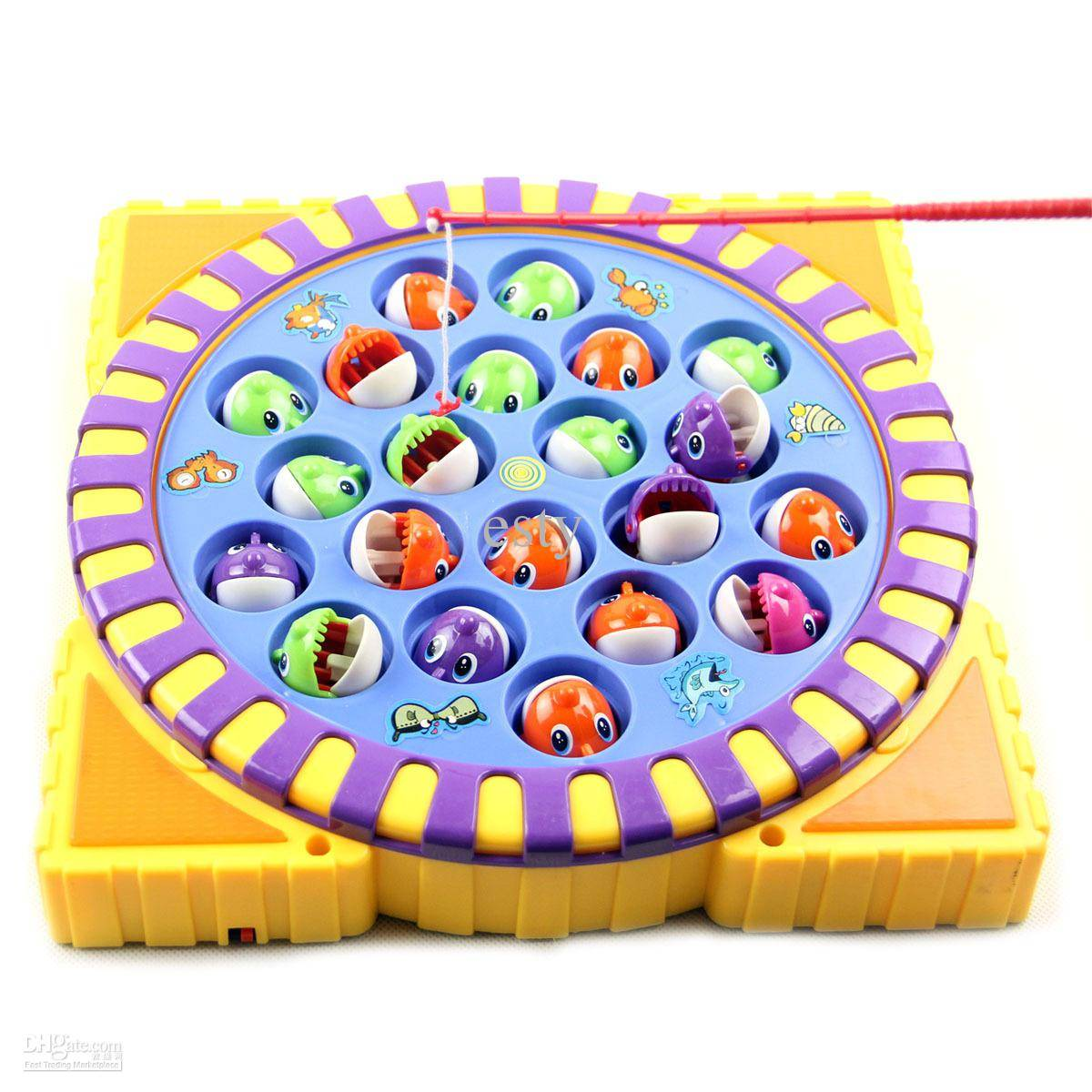 Child music, electric fishing toy
