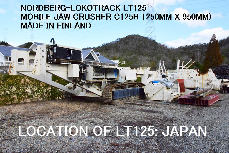 USED NORDBERG LOKOTRACK MODEL LT125 MOBILE JAW CRUSHER MODEL C125B