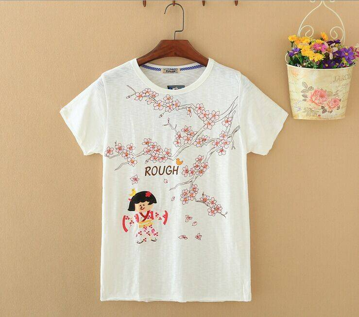 2015 New Lady Kimono Girl Short SleeveT-Shirt