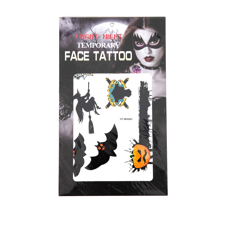 Halloween Day Face Tattoo Sticker