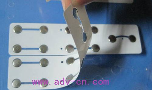 Sell metal dome array-single/double layer/EMI printing/Rubber glue metal dome array
