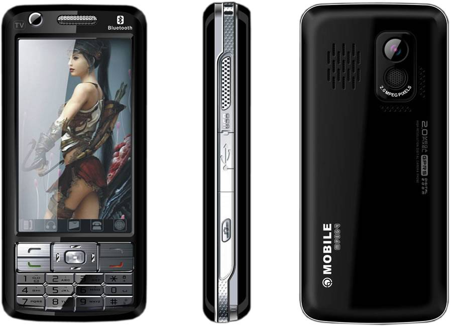 Fly2008 tri-band dual sim dual standby TV function mobile phone,CECT cell phone