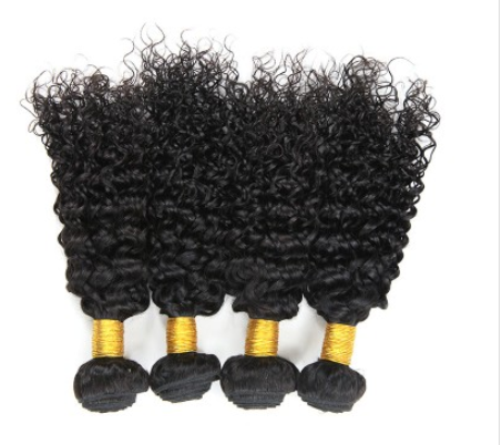 [8A]4 Bundles Peruvian Hair Weave Water Wave with 360 Lace frontal