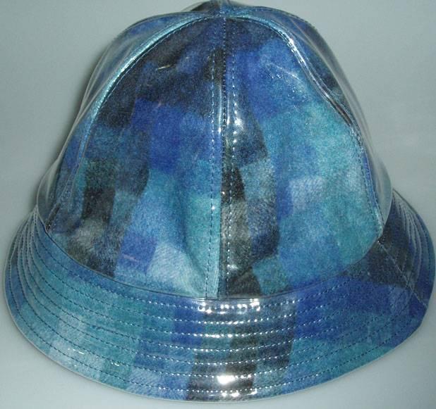 Exclusive Products, plastic PVC fashion rain hat, cap.