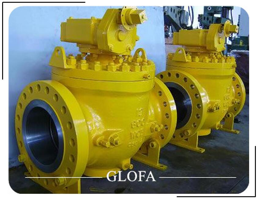 API 6D Cast Steel Flanged Trunnion Mounted Top Entry Ball Valve