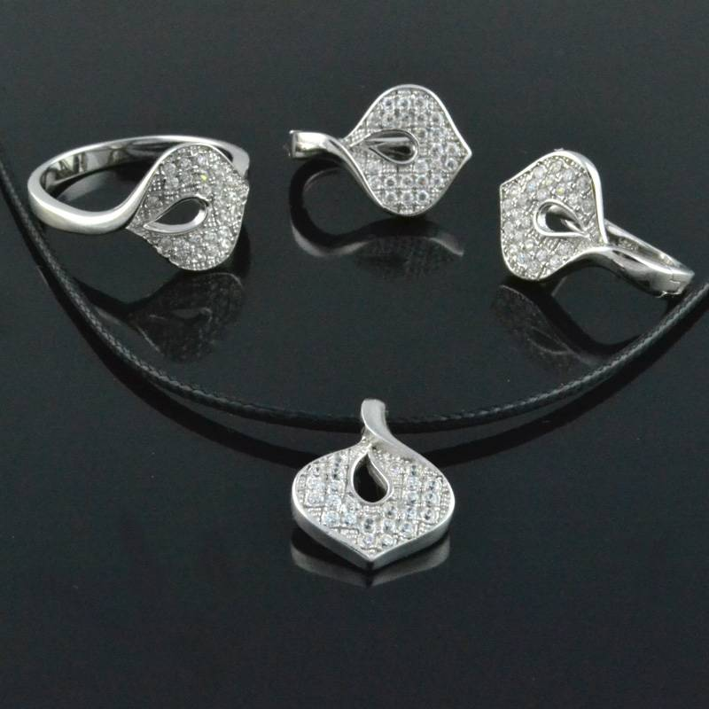925 Silver Jewelry Sets Fashion 925 Silver Rings