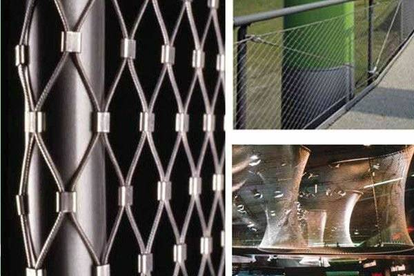 High Strength X-Tend Stainless Steel Rope Net