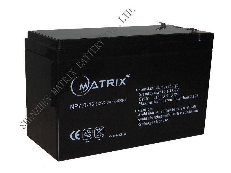 12V7Ah lead acid batteries