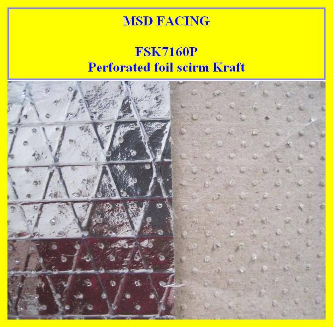 manufacturer of Foil with Fiberglass Scrim Kraft Heat Insulation (FSK7160P)