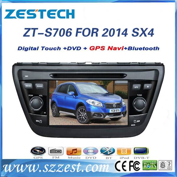 ZESTECH full hd touch screen car multimedia for Suzuki SX4 2014 gps navigation with bluetooth ipod