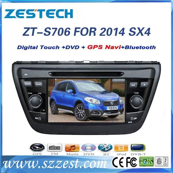 ZESTECH full hd touch screen car multimedia for Suzuki SX4 2014 gps navigation with bluetooth ipod