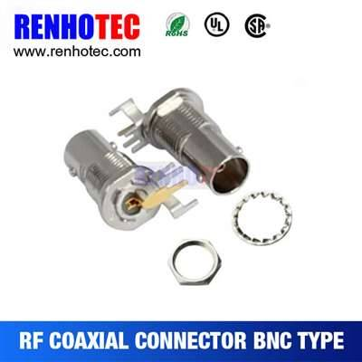 Right Angle BNC Jack Connector For PCB