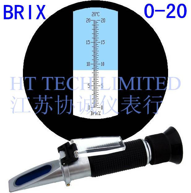 Refractometer Brix0-20% for fruit juice and cutting oil