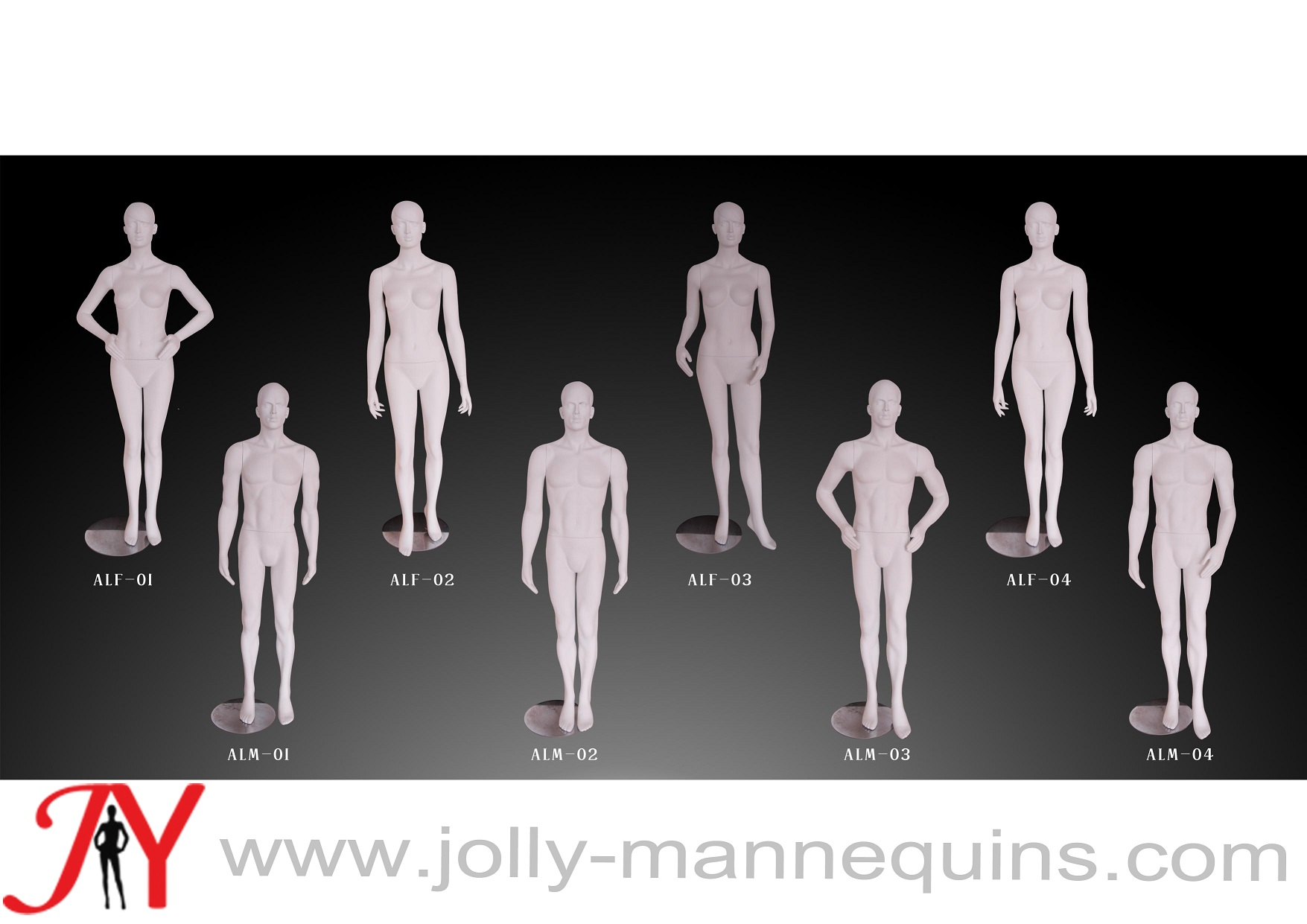sell jolly mannequins male realistic hair head mannequin classic white matt color ALM collection