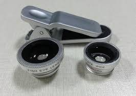 180 degree Universal 3 in 1 Clip-On Fish Eye Lens+Wide Angle+Macro Lens