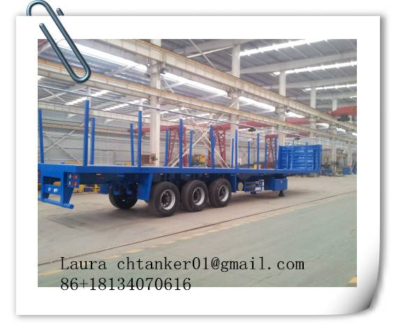 flat bed semi trailer with movable pillars exported to Saudi Arabia