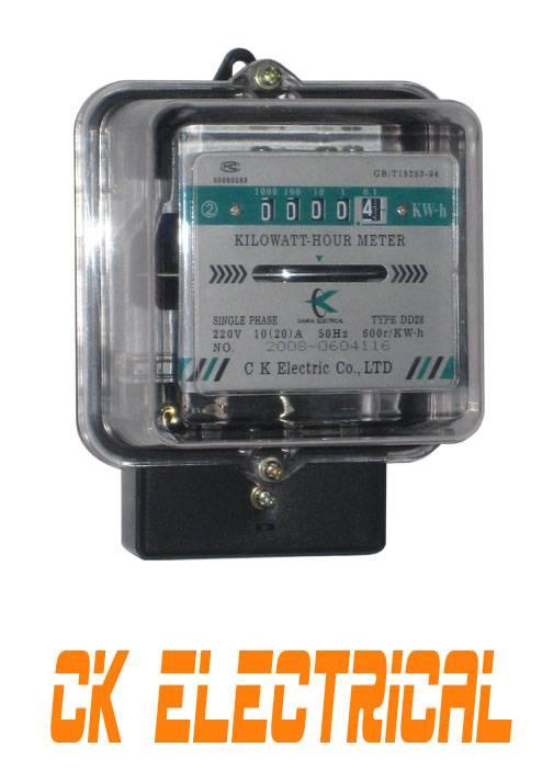 Single Phase Energy Kwh Meter DD17