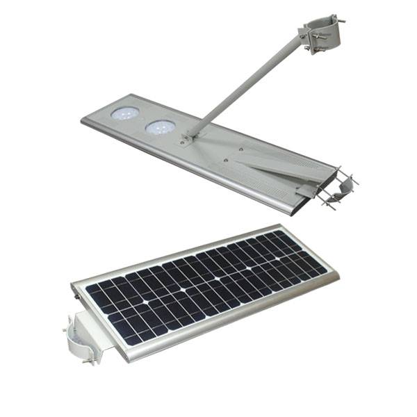 40W integrated solar lights with energy-saving, friendly-environment and pole optional