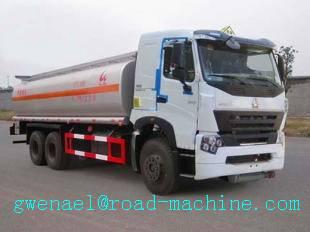 Oil Tanker Truck 15000L EURO II / 42 Sinotruk Howo Tanker Truck, Energy-Saving, ZZ5207M3227N