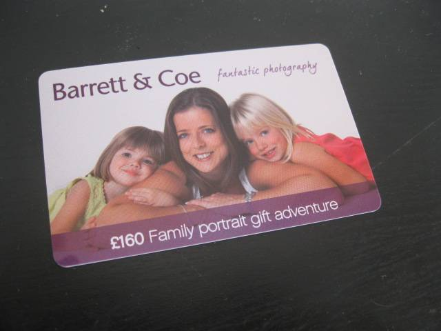 Portrait Card for promotional activity based on family