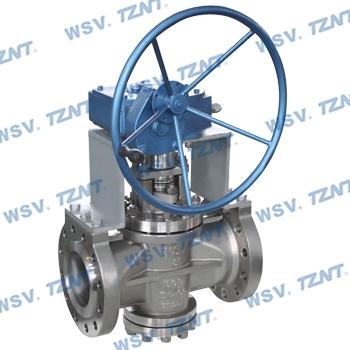 double gland plug valve