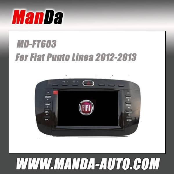 Manda 2 din car audio for Fiat punto Linea 2012-2013 in-dash head unit touch screen dvd gps autoradi