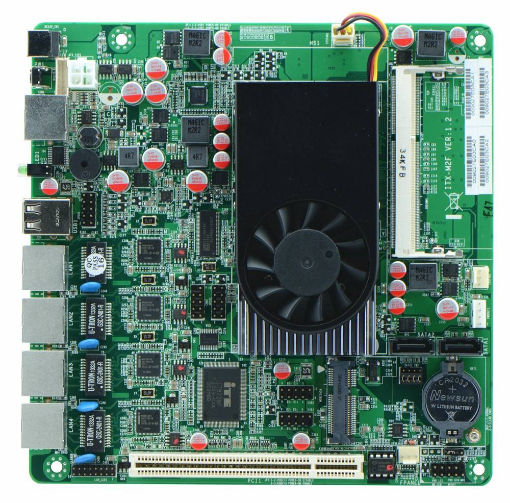 Cheap Intel D2550 Based Firewall Motherboard for Network Security Application, 4Lan