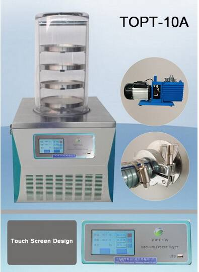 TOPT-10A Lab Benchtop Mini Vacuum Freeze Dryer For Food