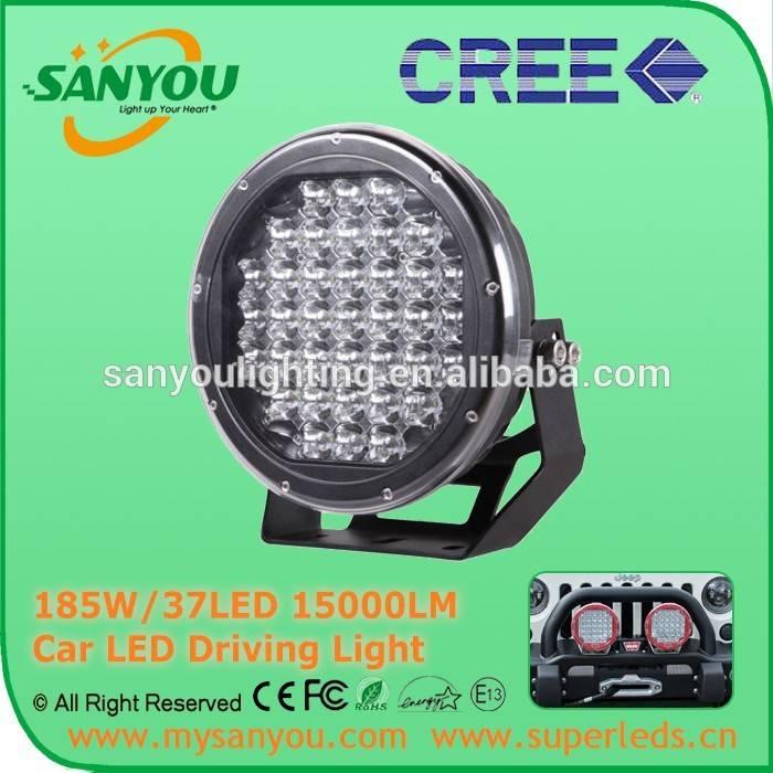 Sanyou 185W/37LED15000LM Car LED Driving Light Black