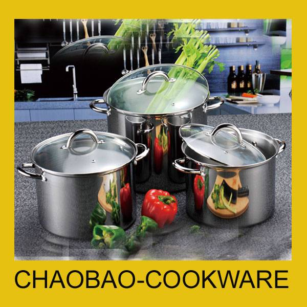 Stainless steel high pot set