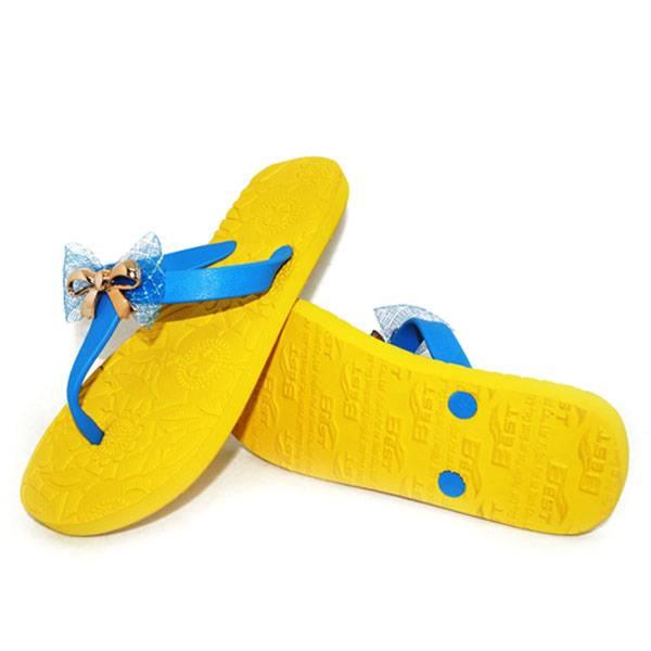 Fashion Yellow Beach Flip Flops Slippers SandalsBF0211