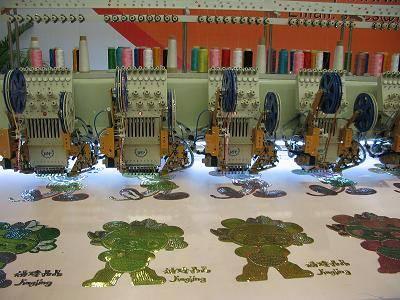 multi-sequin embroidery machine