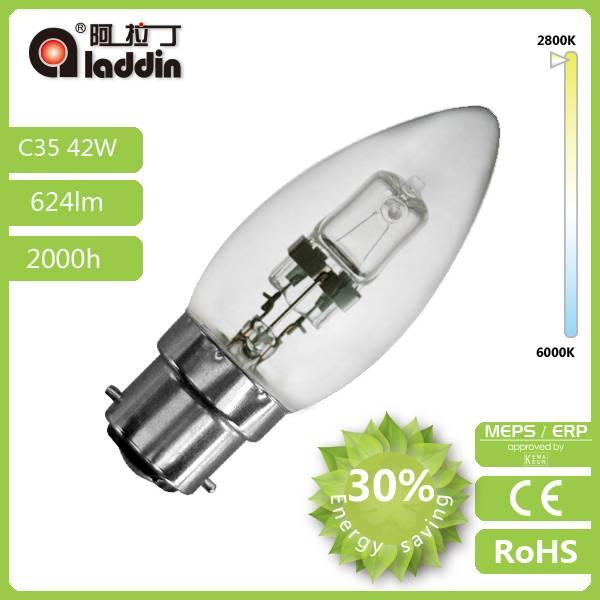 Energy saving C35 halogen lamp with better price 220-240V