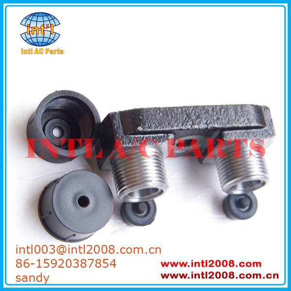 Fitting Adapter Vertical O-Ring/fitting Port/Tube manifold fitting for TM Style Zexel Compressors Wi