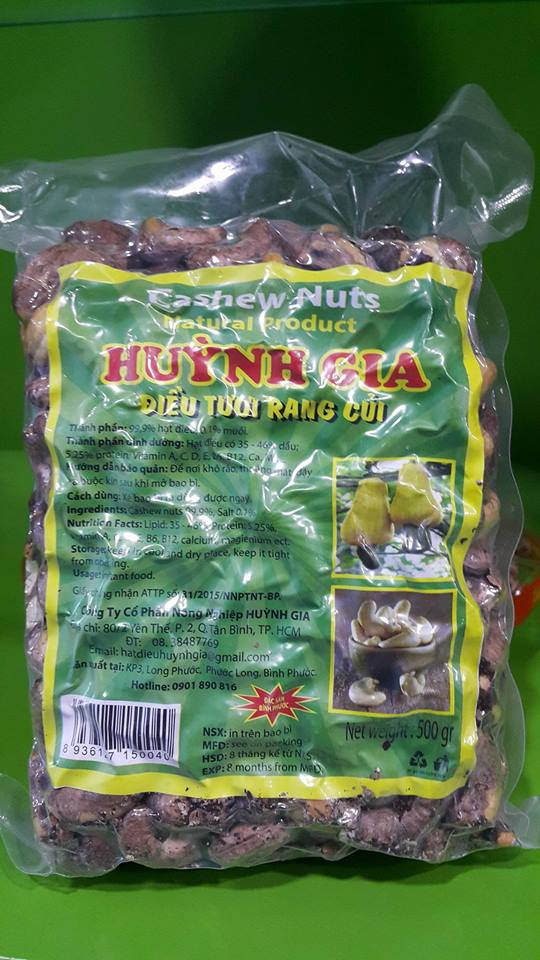 Salted Roasted Cashew Nuts With Shell