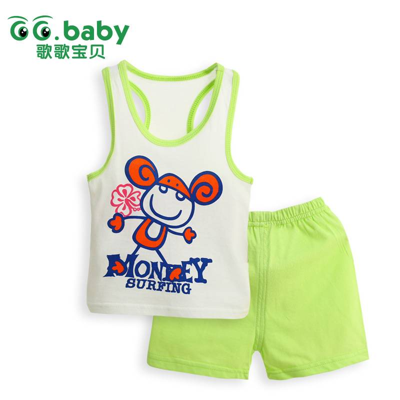l2015 New 100%Cotton Summer Baby Sets Casual Newborn Baby Girl Boy Clothes Set Infant Suits