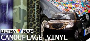 Ultrawrap camouflage & sticker bomb wrap vinyl