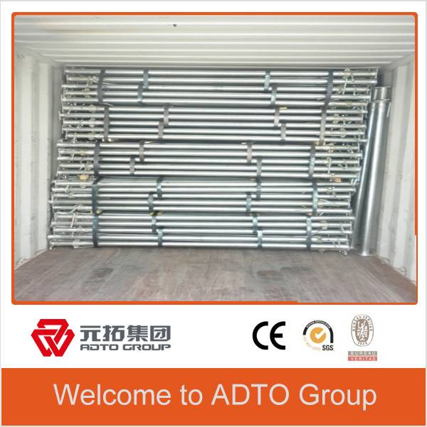 Painted or hot dipped galvanized scaffolding prop for formwork system