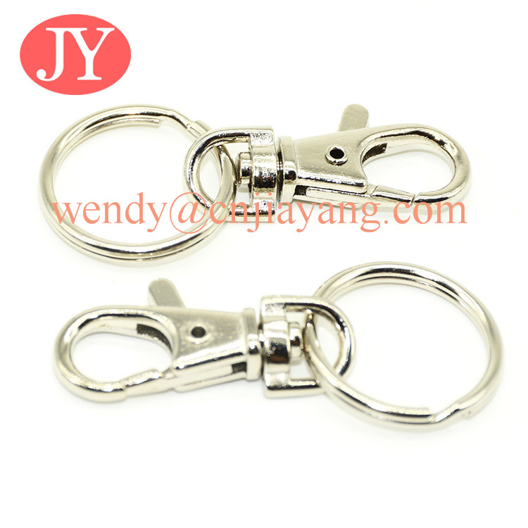 metal keyring chain with snap hook