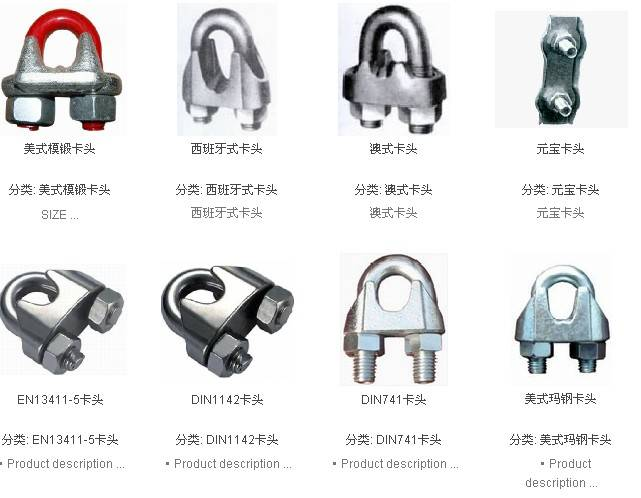 Factory Price of Wire Rope Clips
