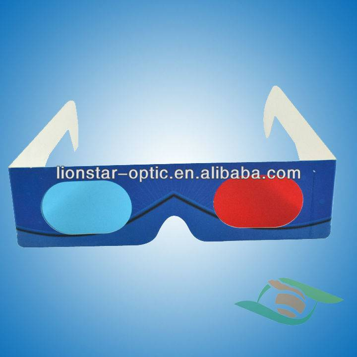 Cheap red cyan anaglyph 3d glasses paper 3d movie glasses